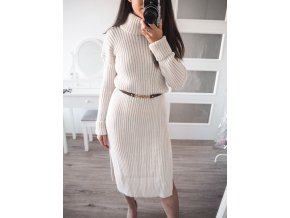 Pletené šaty s rolákem - Teresa
