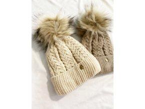 Zimní stylová čepice s bambulí