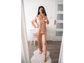 Saténové pyžamo set - japonský vzor