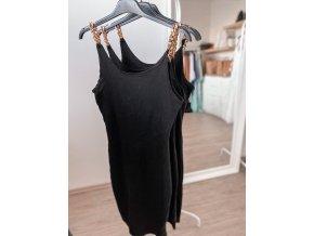 Basic šaty se zlatými ramínky - Victoria
