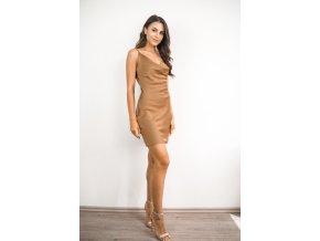 Slip dress saténové krátké šaty - Sally