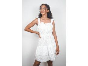 Bílé šaty z madeiry - Kelly