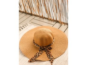 Slaměný dámský klobouk - Tiger