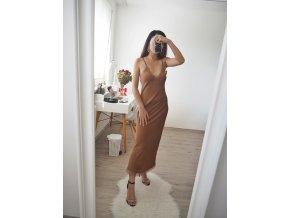 Satin slipper šaty s krajkou - Olivia