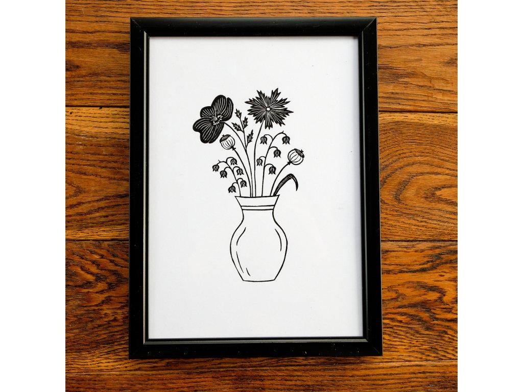 Váza s mákem A4