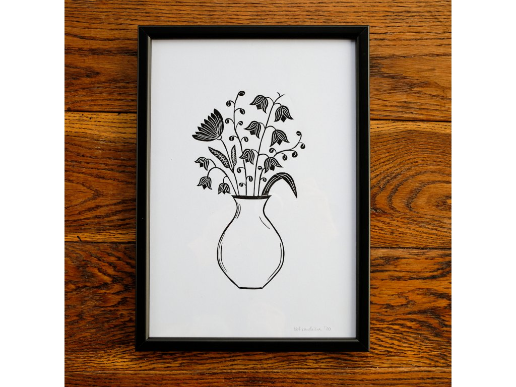 Váza se zvonky A4