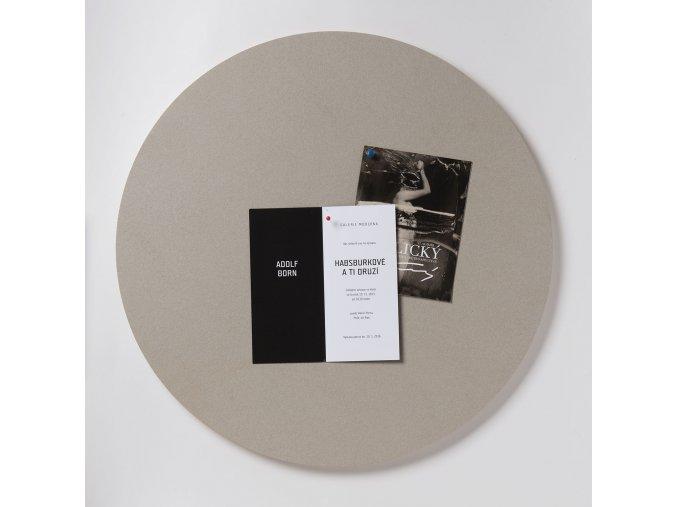 Nástěnka ve tvaru kruhu K206 OYSTER SHELL 59 cm
