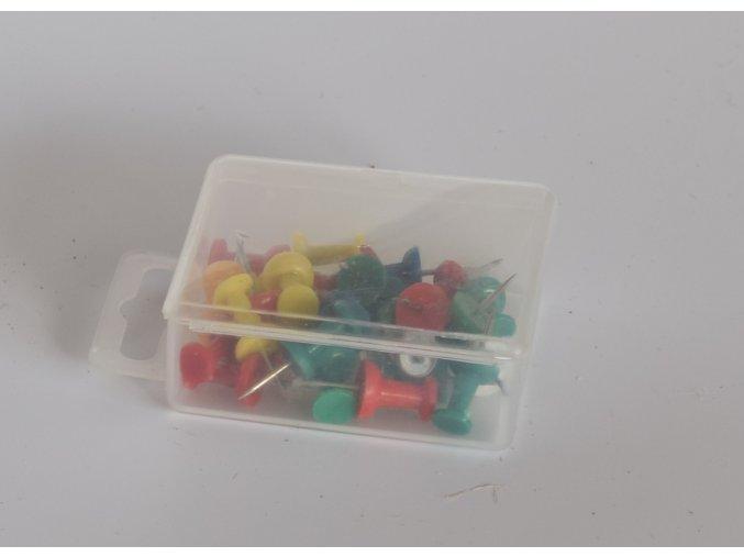 Sada barevných špendlíků 25 ks