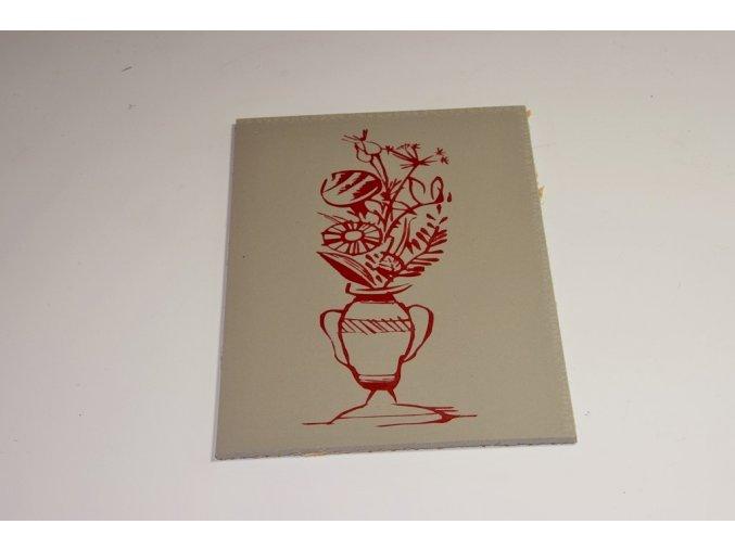 Váza s květinou  15x10cm