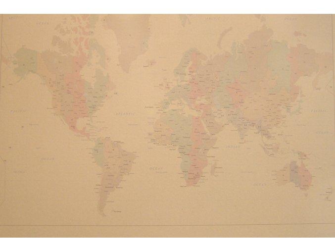 Mapa světa 40 x 60 cm ST208
