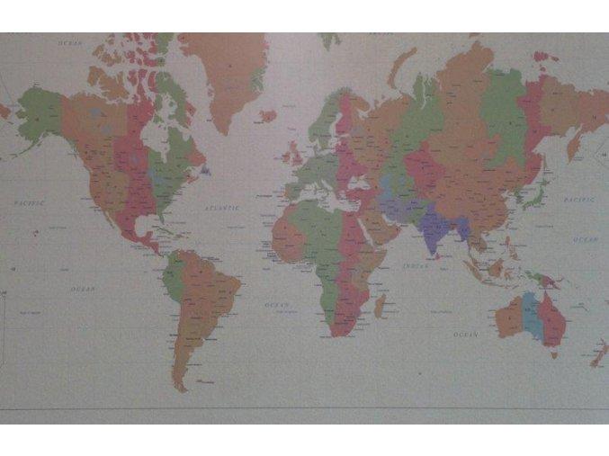 Mapa světa 40 x 60 cm ST206