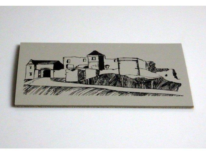 Hrad a zámek Klenová 15x10cm