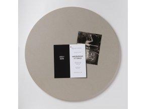 Nástěnka ve tvaru kruhu K206 OYSTER SHELL 75 cm