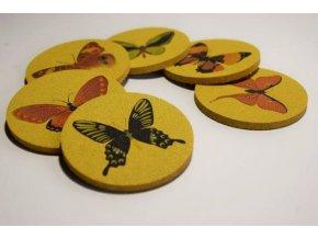 Sada podtácků Motýli 6 ks