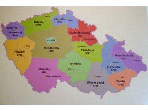 Mapa ČR - kraje   40 x 60 cm  ST209