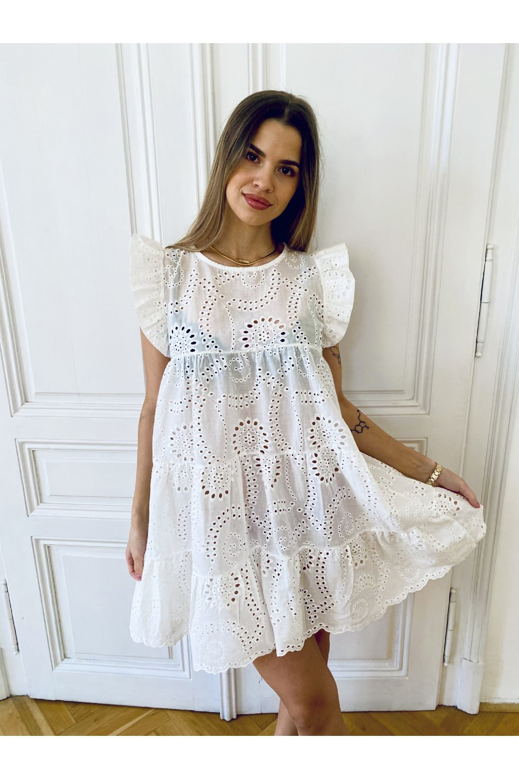 Bavlněné šaty White