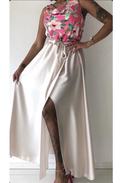 Dlouhá saténová sukně