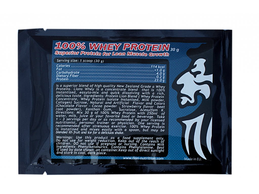 100% Whey protein, 30g