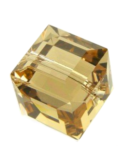 SWAROVSKI 5601 CUBE Bead GOLDEN SHADOW 8mm