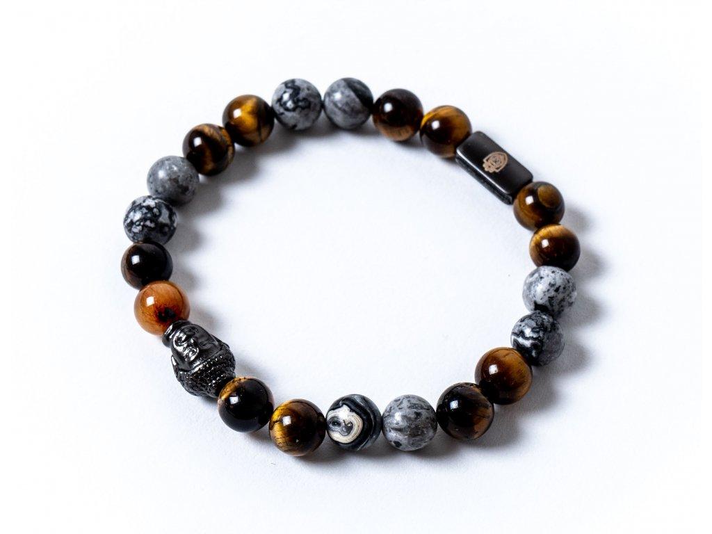 náramek buddha černý tygří oko jaspis (4)