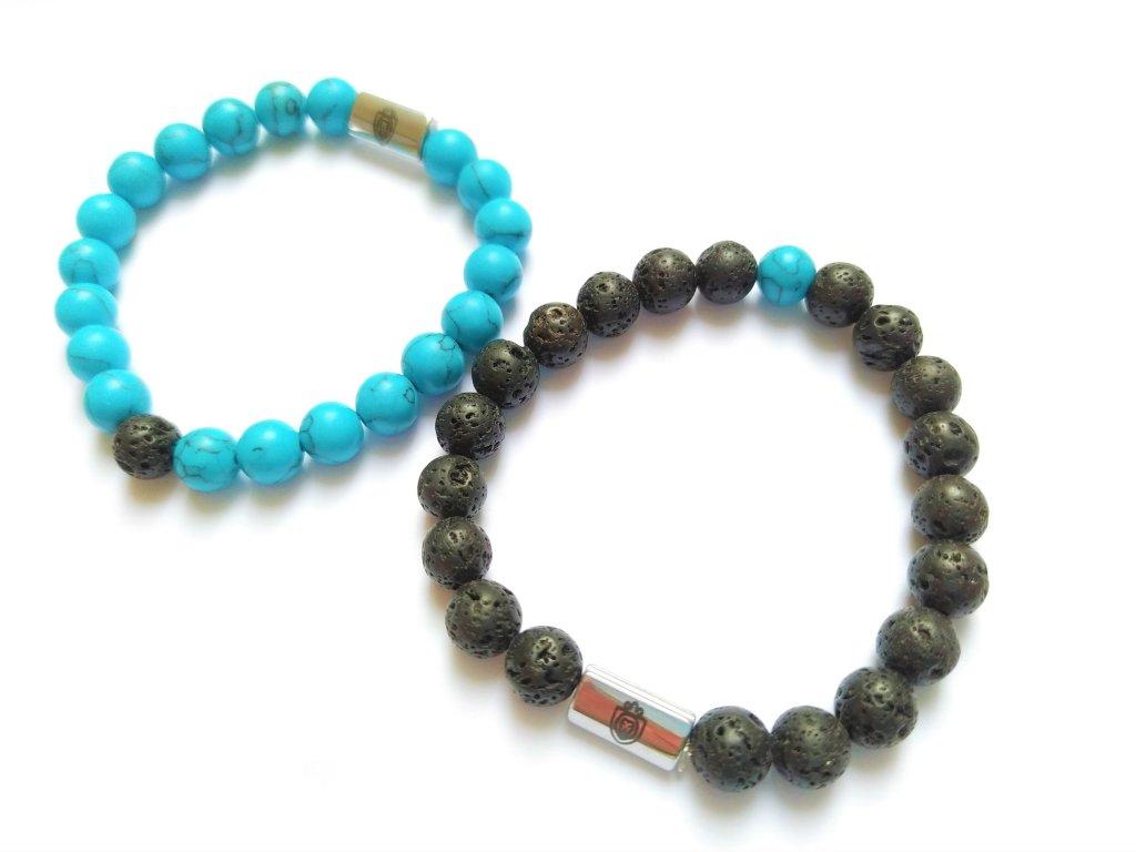 Jin a Jang modrá+lávové kameny 2