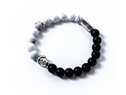 Stříbrný buddha howlit onyx (4)