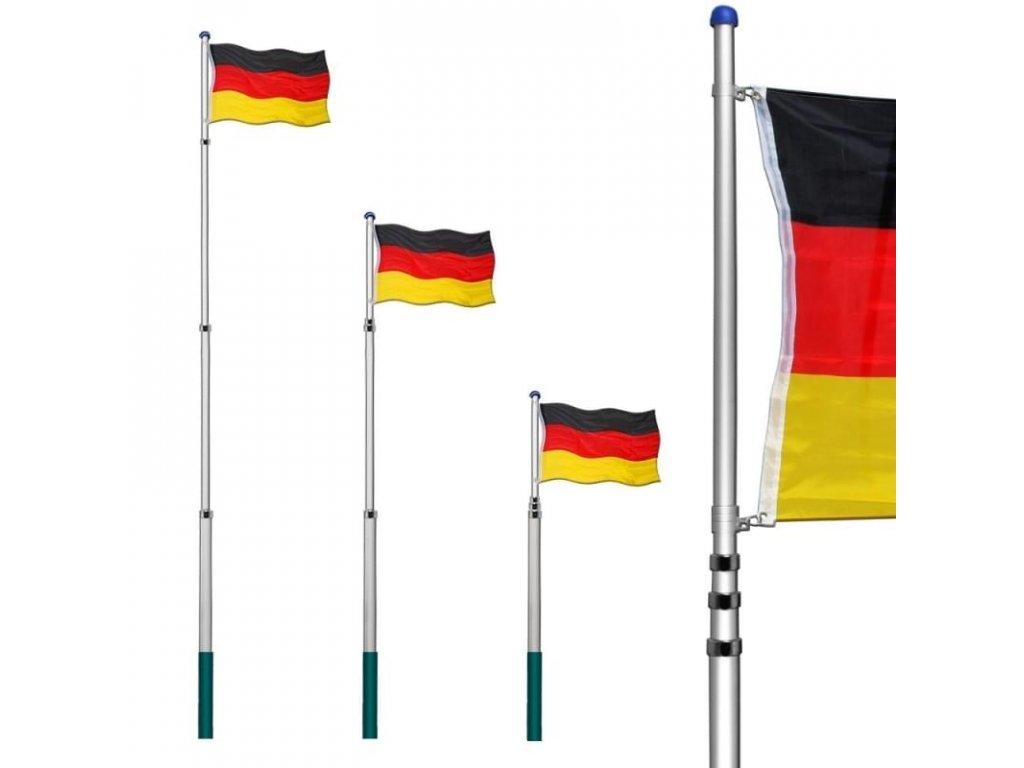 Teleskopický stožár na vlajku