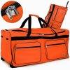 Cestovní taška na kolečkách XXL oranžová