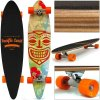 Longboard 112x 26 cm, oranžová kolečka