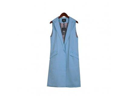 Dámská dlouhá vesta modrá
