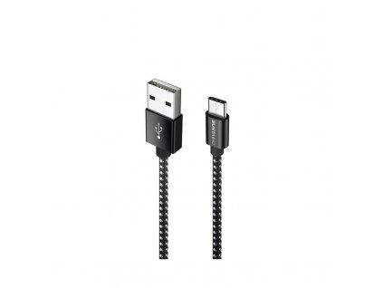 Datový a nabíjecí kabel USB-C černobílý