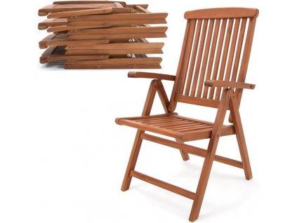 2 skládací židle Vanamo z eukalyptového dřeva