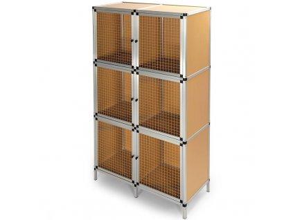 Králíkárna - boxy na malé hlodavce - Konstrukce z eloxovaného hliníku