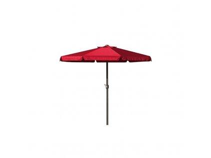 Červený slunečník s klikou Ø 3,5m