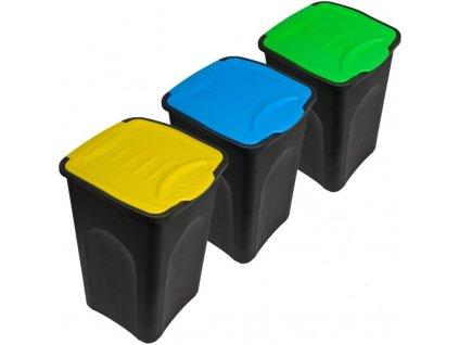 3x odpadkový koš s kloubovým víkem
