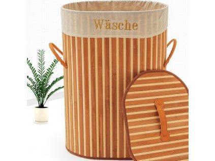 Bambusový koš na prádlo 100 L