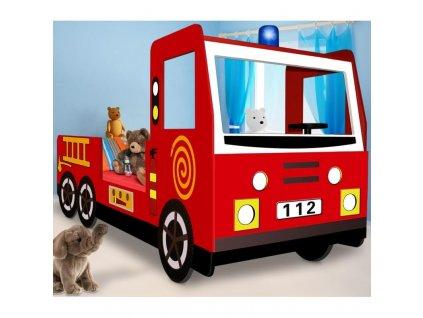 Dětská postel hasičské auto