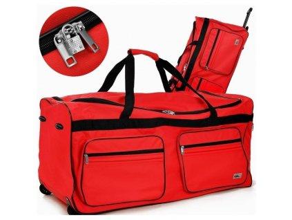 Cestovní taška na kolečkách XXL červená