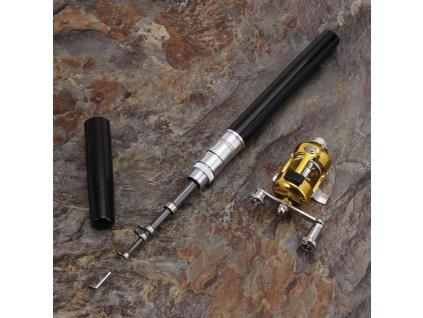 Mini přenosný teleskopický rybářský prut