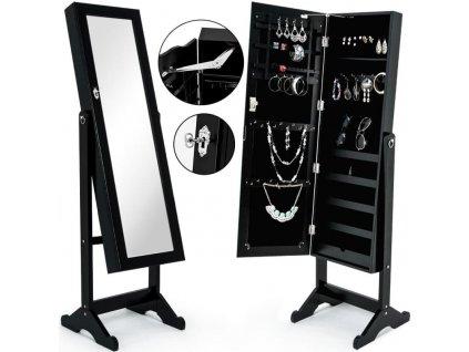 Luxusní stojanová šperkovnice se zrcadlem