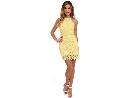 Dámské letní šaty žluté