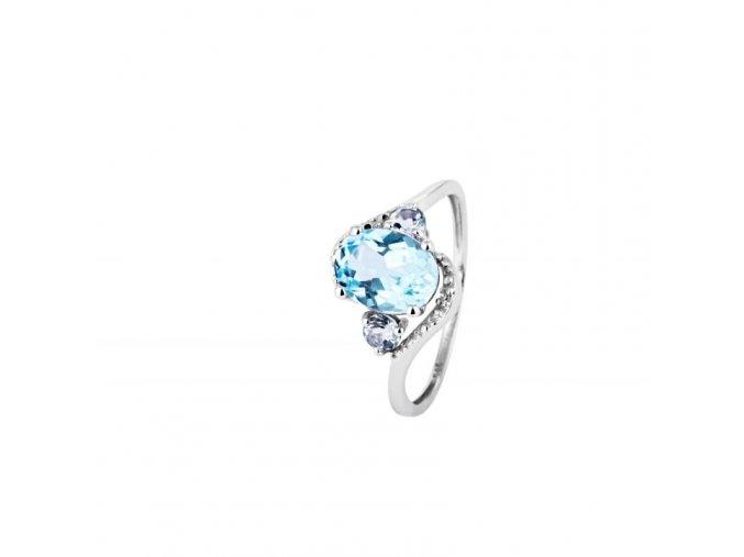 Prsten Marcus Astory MA103 - 14k bílé zlato s diamanty