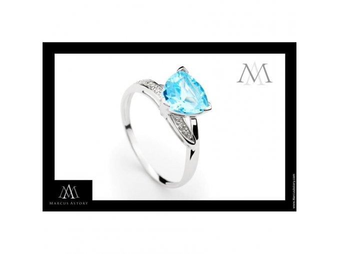 Prsten Marcus Astory MA54 ze 14K bílého zlata s diamanty