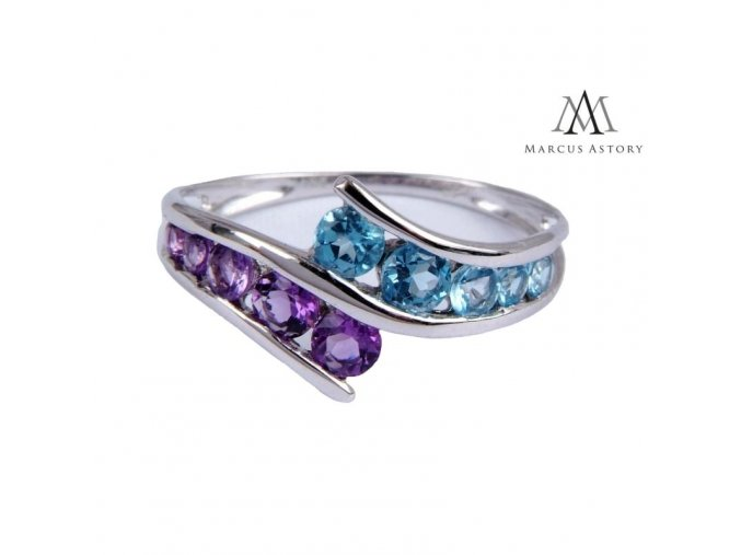 Prsten Marcus Astory MA01 ze 14K bílého zlata s diamanty