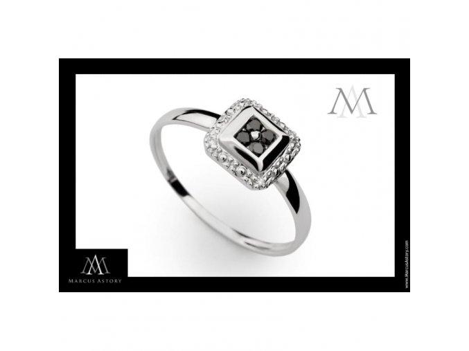 Prsten Marcus Astory MA31 z bílého zlata