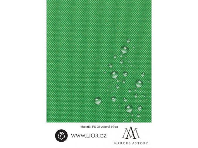EXAM 600D zelená látka 084