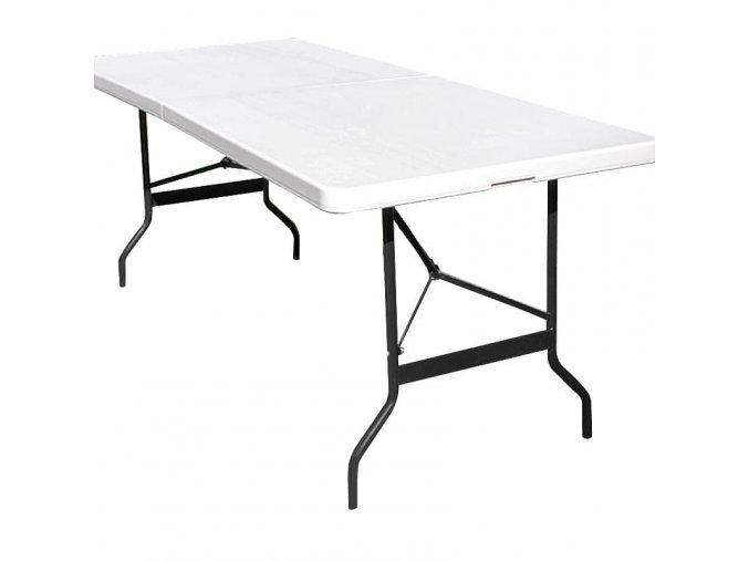 Kempingový - skládací - praktický plastový stůl