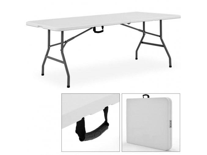 Praktický skládací cestovní bufetový stůl 240cm