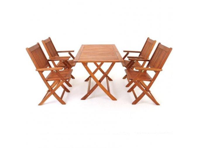 Dřevěná sedací souprava SYDNEY 4+1