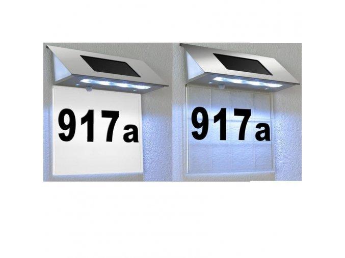 Domovní číslo se solárním LED osvětlením
